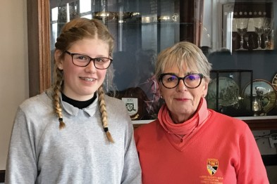 Amy Clarke winner of Junior Spring 9-hole stableford at Royal Norwich Golf Club