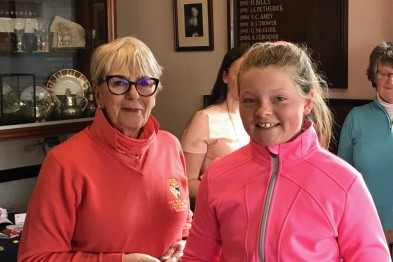 Lucy Lefevre runner up Junior Spring 9-hole stableford at Royal Norwich Golf Club